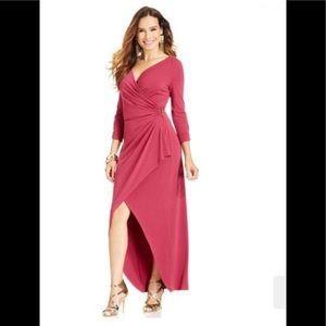 Thalia Sodi For Macys Faux Wrap High Low Dress.